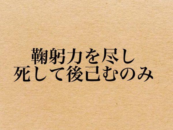 鞠躬力を尽し、死して後己むのみ|吉田松陰の名言
